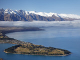 The Remarkables, Lake Wakatipu, and Queenstown, South Island, New Zealand Photographic Print by David Wall