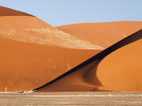 Abstract of Sand Dunes, Sossusvlei, Namibia, Africa Photographic Print by Wendy Kaveney