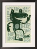 Hip Hop Frog Poster