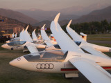 Last Light on Gliders at Fai World Sailplane Grand Prix, Vitacura Airfield, Santiago, Chile Photographic Print by David Wall