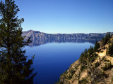 Crater Lake in Crater Lake National Park, Oregon, USA Photographic Print by Bernard Friel