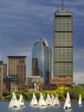 Mit Sailing Team Practicing in Charles River, Boston, Massachusetts, USA Fotografie-Druck von Adam Jones