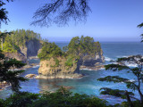 Seastacks, Makah Nation Tribal Lands, Cape Flattery, Washington, USA Photographic Print by Jamie & Judy Wild