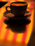 Cappuccino Reflection, Lugano, Ticino Canton, Switzerland Fotografiskt tryck av Walter Bibikow