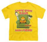 Youth: Garfield - Throne T-shirts