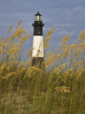 Lighthouse and Seaoats in Early Mooring, Tybee Island, Georgia, USA Photographic Print by Joanne Wells