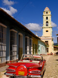 Old Worn 1958 Classic Chevy, Trinidad, Cuba Photographic Print by Bill Bachmann