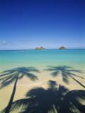 Lanikai Beach, Kailua, Hawaii, USA Fotografisk tryk af Douglas Peebles