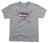 Youth: Superman - Crossed Bats T-Shirt