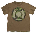Youth: Green Lantern - Camo Logo T-shirts