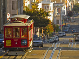 Cable Car on Powell Street in San Francisco, California, USA Fotodruck von Chuck Haney