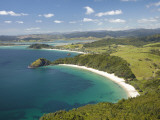 New Chums Beach, and Motuto Point, Coromandel Peninsula, North Island, New Zealand Photographic Print by David Wall