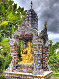 Ornate Buddhist Shrine, Wat Bangkungthien Kang, Bangkok, Thailand Photographic Print