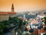 View of the Cesky Krumlov Castle Seen Across the Town, Cesky Krumlov, Czech Republic Photographic Print by Dennis Flaherty