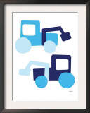 Blue Tractors Posters by  Avalisa