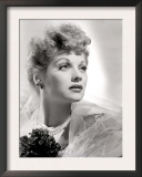 Lucille Ball Portrait with Gauze, 1940's Print