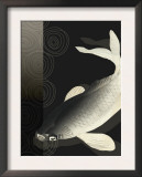 Koi Under Night Water Poster