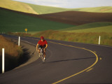 Road Bicycling in the Palouse Country Near Pullman, Washington, USA Photographic Print by Chuck Haney