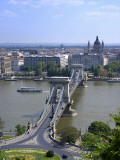 Szechenyi Lanchid Chain Bridge, Danube River, Budapest, Hungary Photographic Print by Jim Engelbrecht