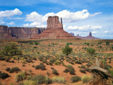 Mitten and Buttes at Mid-Day Navajo Tribal Park, Monument Valley, Arizona, USA Photographic Print by Bernard Friel
