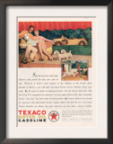 Texaco, Magazine Advertisement, USA, 1929 Print