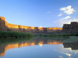 Cliffs at Sunrise Along Green River at Mineral Bottom, Utah, USA Photographic Print by Scott T. Smith