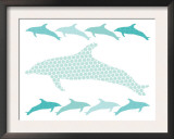 Seagreen Dolphin Family Posters by  Avalisa
