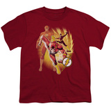 Youth: Justice League America - Flash Collage T-Shirt
