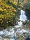 Moss Glen Falls in Autumn, Granvillie, Vermont, USA Photographic Print by Adam Jones