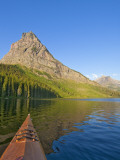 Kayaking on Two Medicine Lake in Glacier National Park, Montana, USA Photographic Print by Chuck Haney