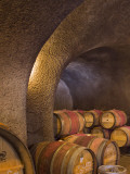 Barrels in Cellar at Long Meadow Ranch Winery, Ruthford, Napa Valley, California, USA Photographic Print by Janis Miglavs