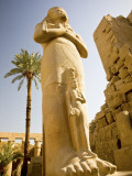 Colossus of Ramses Ii and a Favorite Daughter in Karnak Temple, Luxor, Egypt Photographic Print by Dave Bartruff