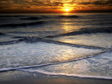 Sunset Reflection on Beach, Cape May, New Jersey, USA Photographic Print by Jay O'brien