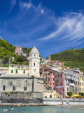 Harbor and Church of Vernazza, Cinque Terre, Italy Photographic Print by Terry Eggers
