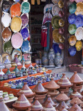 Pottery Shop, Marrakech, Morocco Photographic Print by William Sutton