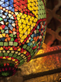 Lamp in Antique Shop, Marrakech, Morocco Photographic Print by William Sutton