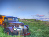Old Chevy Truck in the Little Missouri National Grasslands, North Dakota, USA Photographic Print by Chuck Haney
