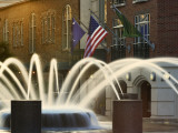 Long Exposure on Fountain, Charleston, South Carolina, USA Photographic Print by Adam Jones