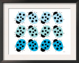 Blue Lady Bug Family Posters by  Avalisa