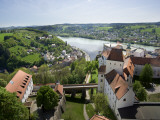 View From Oberhaus Fortress, Danube River, Passau, Bavaria, Germany Photographic Print by Jim Engelbrecht