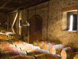 Window Light Streams Into Barrel Room at Hess Collection Winery, Napa Valley, California, USA Photographic Print by Janis Miglavs