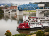 Delta Queen Riverboat, Tennessee River, Chattanooga, Tennessee, USA Photographic Print by Walter Bibikow