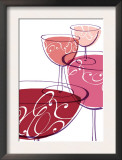 Wine Glasses with Swirls Prints