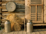 Outside the Kitchen, Ronald V. Jensen Historical Farm, Cache Valley, Utah, USA Fotografie-Druck von Scott T. Smith