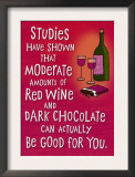 Wine and Chocolate Prints