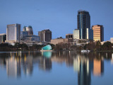 Orlando Skyline Across Lake Eola, Florida, USA Photographic Print by Walter Bibikow