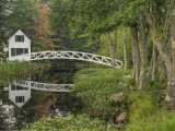 White Footbridge, Somesville, Mount Desert Island, Maine, USA Photographic Print by Adam Jones