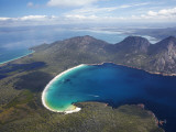 Wineglass Bay and the Hazards, Freycinet National Park, Tasmania, Australia Photographic Print by David Wall