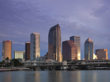 Skyline From Hillsborough Bay, Tampa, Florida, USA Photographic Print by Walter Bibikow