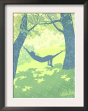 Man in Hammock Posters
